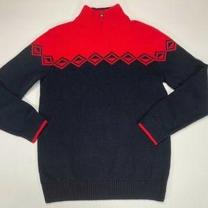 Tommy Hilfiger Boy's Navy Blue & Red Sweater 16L